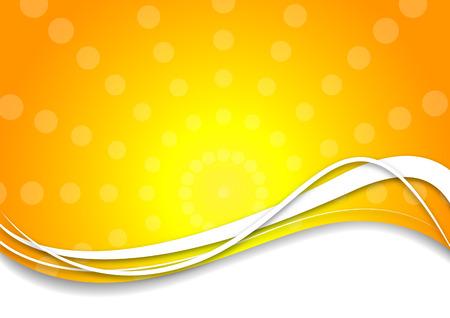 Abstract sunny orange background, vector art illustration. Illustration