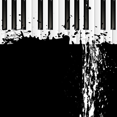 smudges: Smudges on the piano, vector art illustration.
