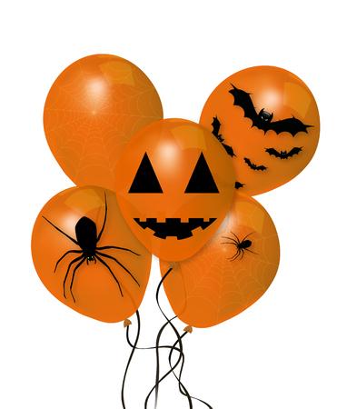 Balloons for Halloween holiday, vector art illustration. Illustration