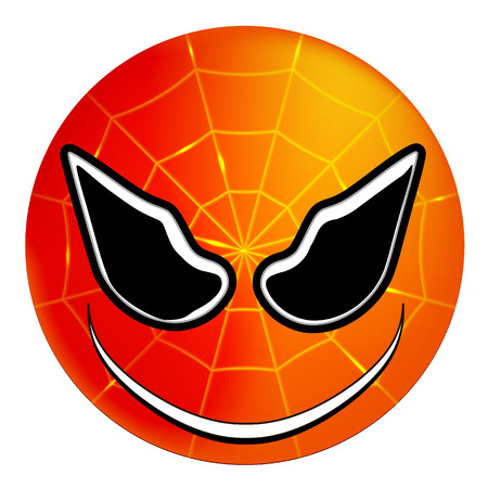 Smiley superhero Spider-Man, vector art illustration. Illustration