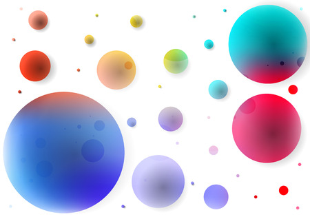Abstract background of colored circles, vector art illustration. Illustration