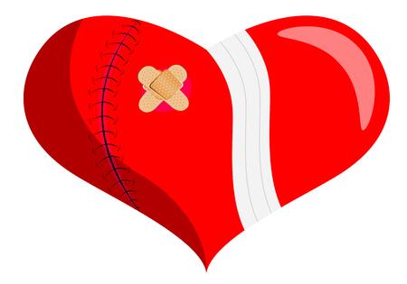 unrequited love: Healing a broken heart, vector art illustration of unrequited love.