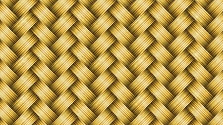 Background of wicker baskets, vector art illustration texture. Illustration