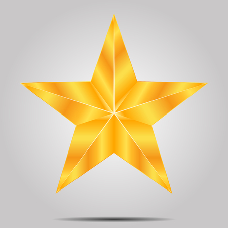 alloy: Gold star on a gray background, vector art illustration. Illustration
