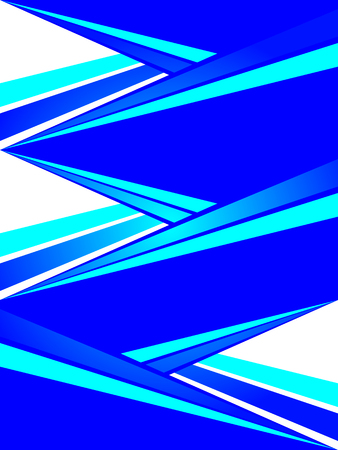 Template of an abstract triangular form, vector art illustration.