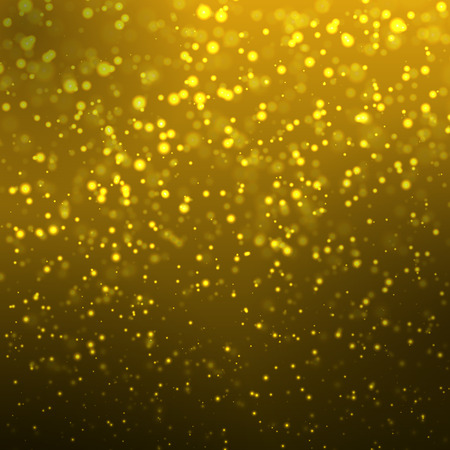 Abstract golden bokeh background, vector art illustration.