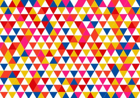 Background of retro triangles, vector art illustration of wallpaper.