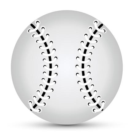 Isolated gray baseball ball, vector art illustration. Illustration