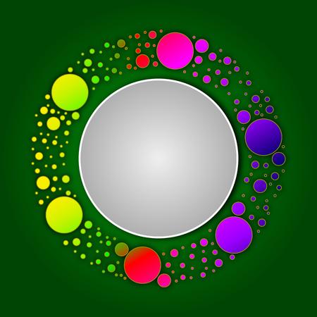 Logo of circles in a circle, vector art illustration.