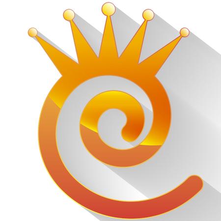 Royal Crown logo, vector artistic illustration of a symbol.