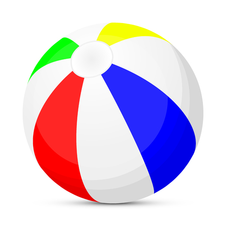 inflating: Isolated beach ball, vector art illustration of a resort.