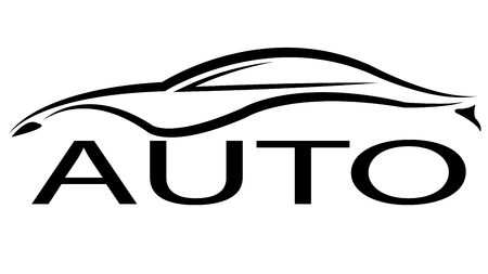 Black auto logo, vector art illustration badge.