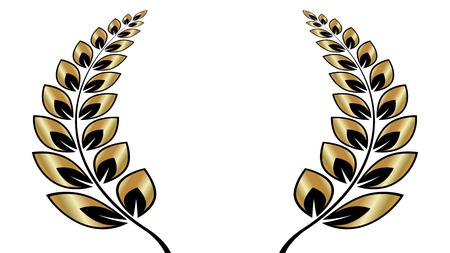 Mooie olijfkrans, vectorillustratie van het zegesymbool.