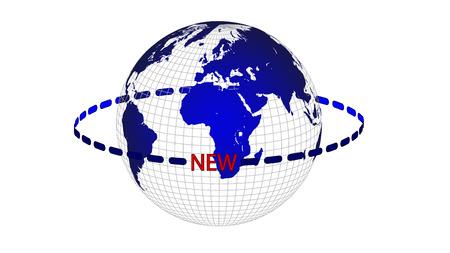 Rotation of an abstract globe, vector art illustration.