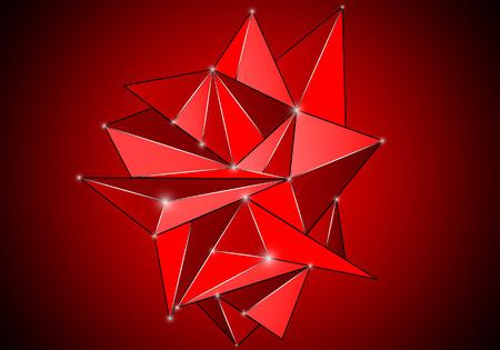Mosaic logo, triangular abstract vector art illustration. Logo