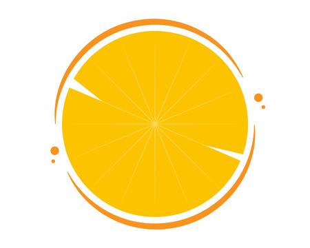 Background of cut oranges in a flat design, vector art illustration. Illustration