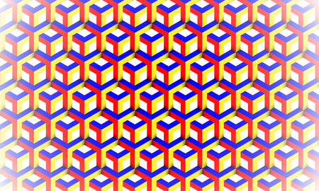 Background of 3d cubes vector art illustration. Illustration
