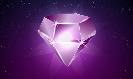 Ruby vector art illustration. Reklamní fotografie - 87201395
