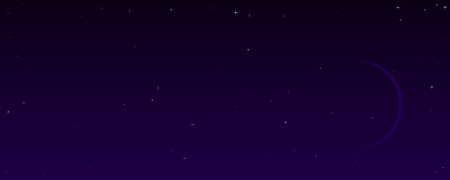 Abstract night sky banner, vector art illustration.