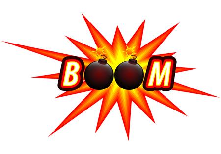 Bomb and bomb , vector art illustration. Illustration