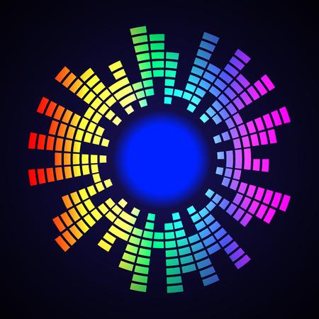 Logo del cerchio equalizzatore, illustrazione arte vettoriale. Logo