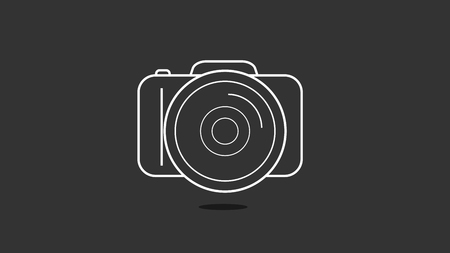 Photo camera in a flat design, vector art illustration. Illusztráció