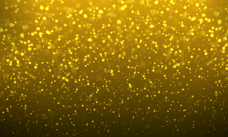 Abstract background of golden bokeh, vector art illustration.