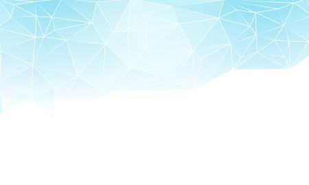 Half blue triangular background, vector art illustration. Illustration