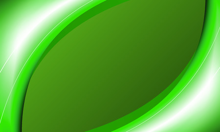 Background with green wavy lines, vector art illustration. Ilustrace