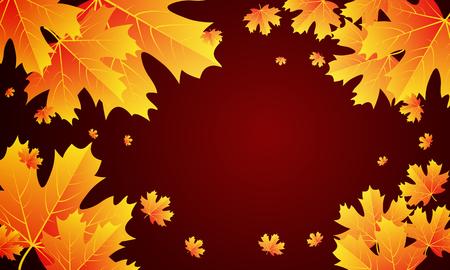 Autumn sale banner design with leaves, vector art illustration. Ilustração