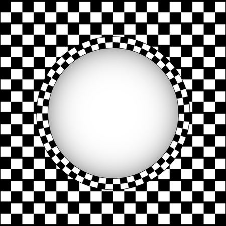 Checkered racing background, vector art illustration. 向量圖像
