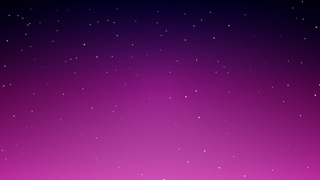Abstract starry blue sky with night sky, vector art illustration.