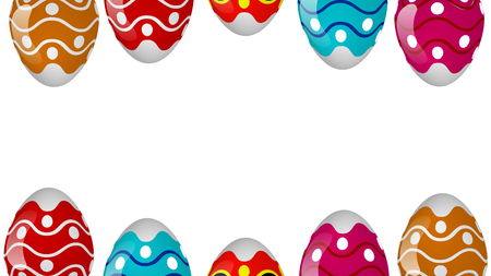 Frame of colorful easter eggs