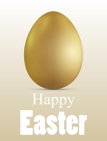 Golden Easter Egg Pattern