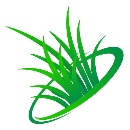 Grass logo design, vector art illustration.