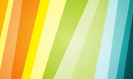 The oblique stripes in yellow orange blue green