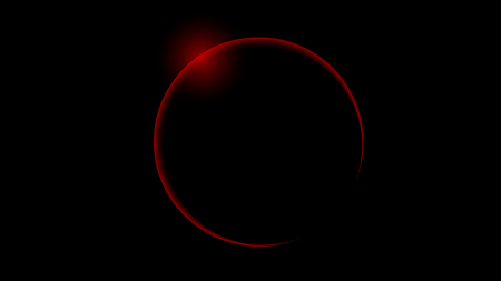 Total red solar eclipse