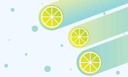 Abstract summer  with lemon slices