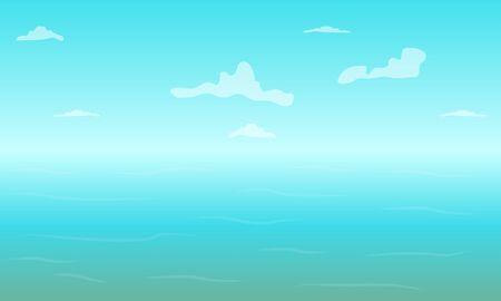 Blue sky over the ocean
