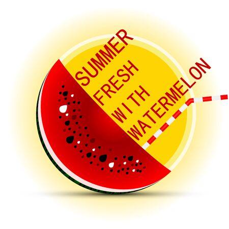 Watermelon and sun  concept