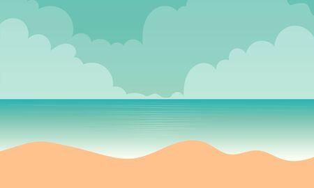 Tropical sand landscape of the sea beach