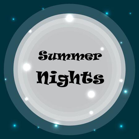Summer night skyline Ilustração