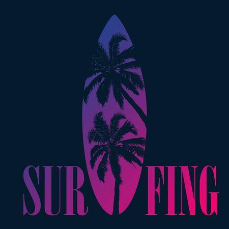 Stencil  for surfing on black