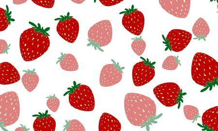 Delicious strawberry on white Ilustração