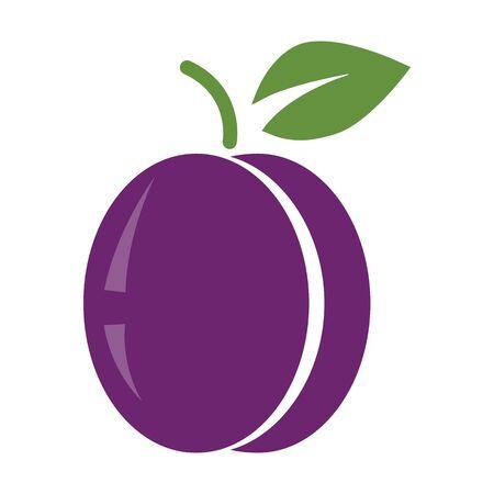 Plum icon in flat design