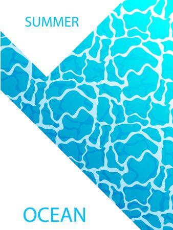 Summer cover on the ocean Ilustração