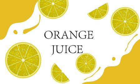 Juice and orange clips