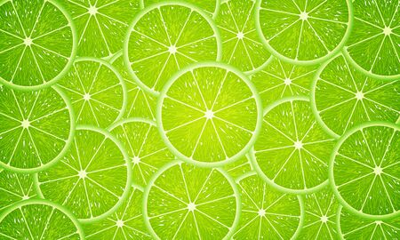 round slices of lime Imagens - 128054305