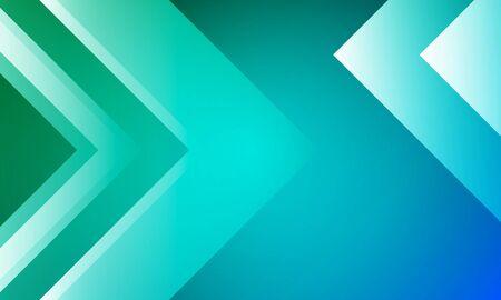 Arrows in green blue design
