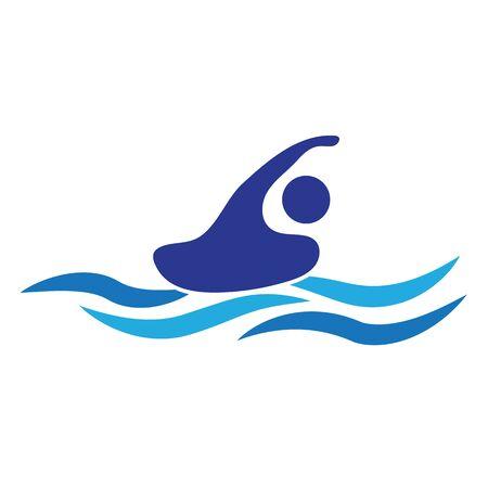 Swimmer  icon on white